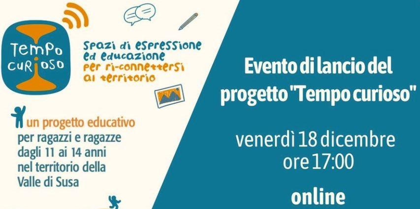 """Evento online di lancio del progetto educativo """"Tempo Curioso"""" venerdì 18 dicembre alle ore 17:00"""