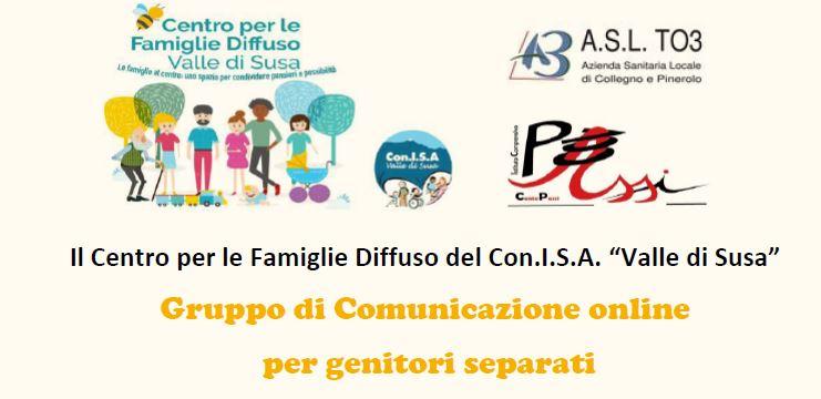 """Gruppo di Comunicazione online per genitori separati : iniziativa del Centro per le Famiglie Diffuso del Con.I.S.A. """"Valle di Susa"""""""